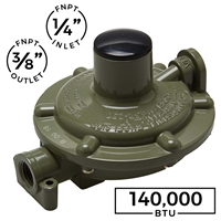 140,000 BTU Low/High Pressure Single Stage Regulator (Marshall Excelsior)