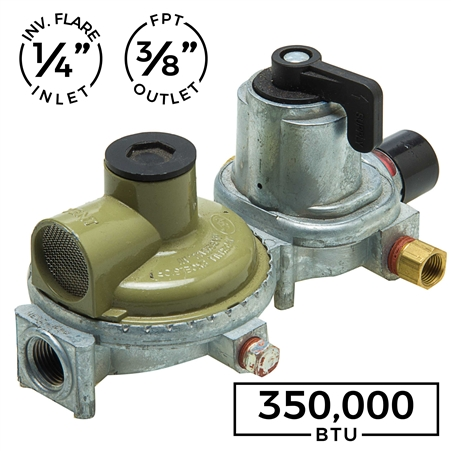 "2 STAGE AUTO CHANGEOVER - 1/4"" INV. FLARE (2) X 3/8"" FPT - HIGH CAPACITY - 350,000BTU"