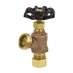 Brass Boiler Drain - Compression Inlet