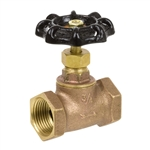 Brass Straight Stop w/ Stuffing Box - Threaded - Series 132L