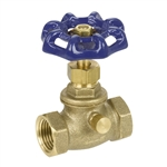 Brass Straight Stop w/ Drain - Threaded - Series 135