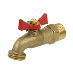 Brass No Kink Hose Bibb - MIP Inlet 1/4 Turn - Series 164