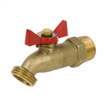 Brass No Kink Hose Bibb - 1/4 Turn - MIP Inlet - Series 361