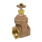 Brass Gate Valve w/ Cross Handle - Threaded - Series 4105