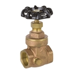 Brass Gate Valve w/ Drain - Threaded - Series 8103