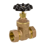 Brass Gate Valve w/ Compression Ends - Series 8130