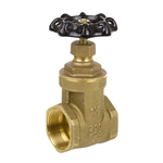 Brass Gate Valve - Threaded - Series 8501