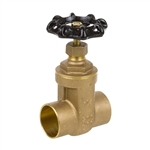Brass Gate Valve - Sweat - Series 8502L