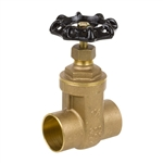 Brass Gate Valve - Sweat - Series 8502