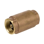 Brass In-line Check Valve - Threaded