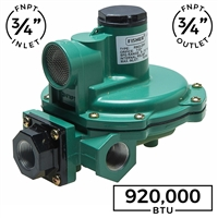 "Second Stage Regulator - 3/4"" FNPT x 3/4"" FNPT - 920,000 BTUH (Fisher)"