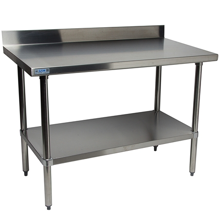 "24"" Work Table - All S/S Top - 4"" Rear Upturn"